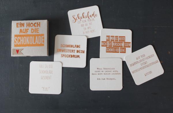 """Kartenbox """"Ein Hoch auf die Schokolade"""" 2"""