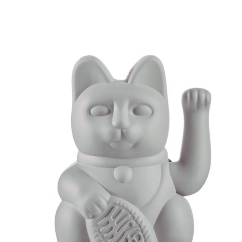 "Lucky Cat ""GREY"" 10"