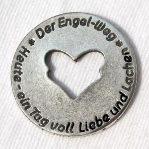 """Engelweg-Münze """"Heute - ein Tag voll Liebe und Lachen"""" 5"""