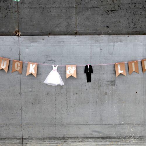 """Hochzeitsgirlande """"Glück & Liebe"""" 2"""