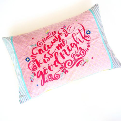 "Kissen ""always kiss me goodnight"" 6"