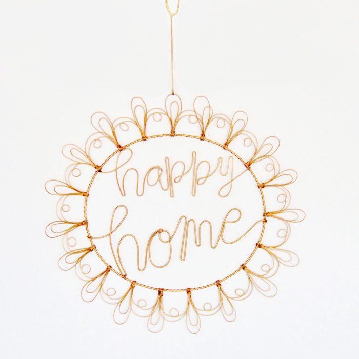 Wanddekoration Twirl Happy Home 1