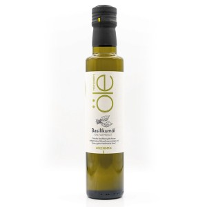 Kaltgepresstes Basilikum Olivenöl 1
