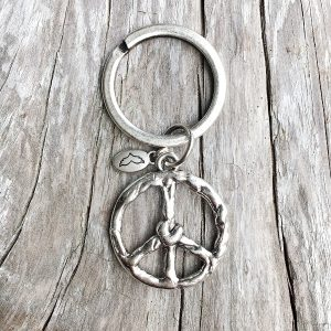 Schlüsselanhänger Peace & Love 2