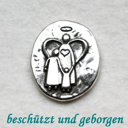 """Engel-Münze """"beschützt und geborgen"""" 4"""