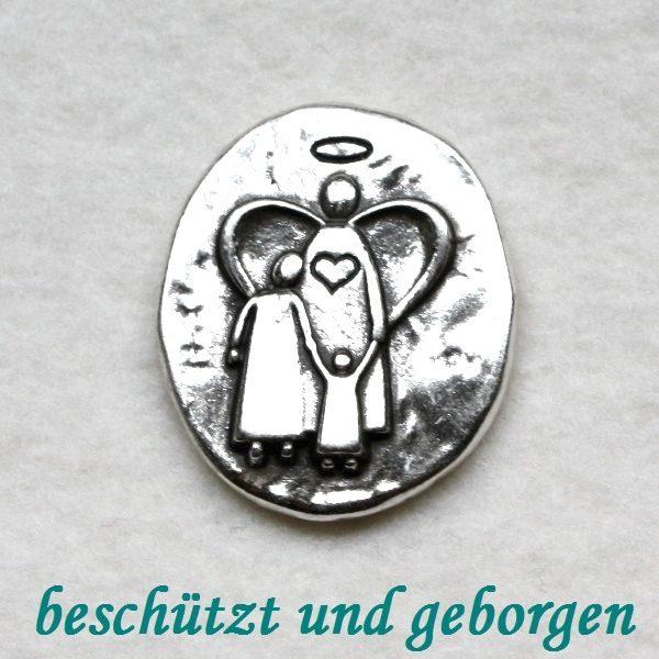 """Engel-Münze """"beschützt und geborgen"""" 1"""