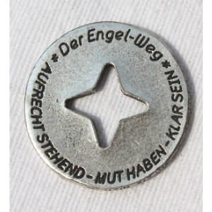 """Engelweg-Münze """"aufrecht stehend - Mut haben - klar sein"""" 10"""