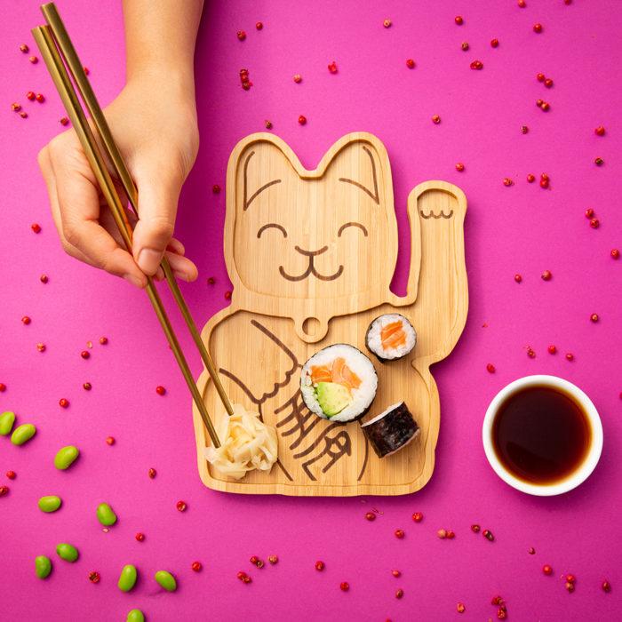 """Bambusteller """"Lucky Cat"""" 2"""