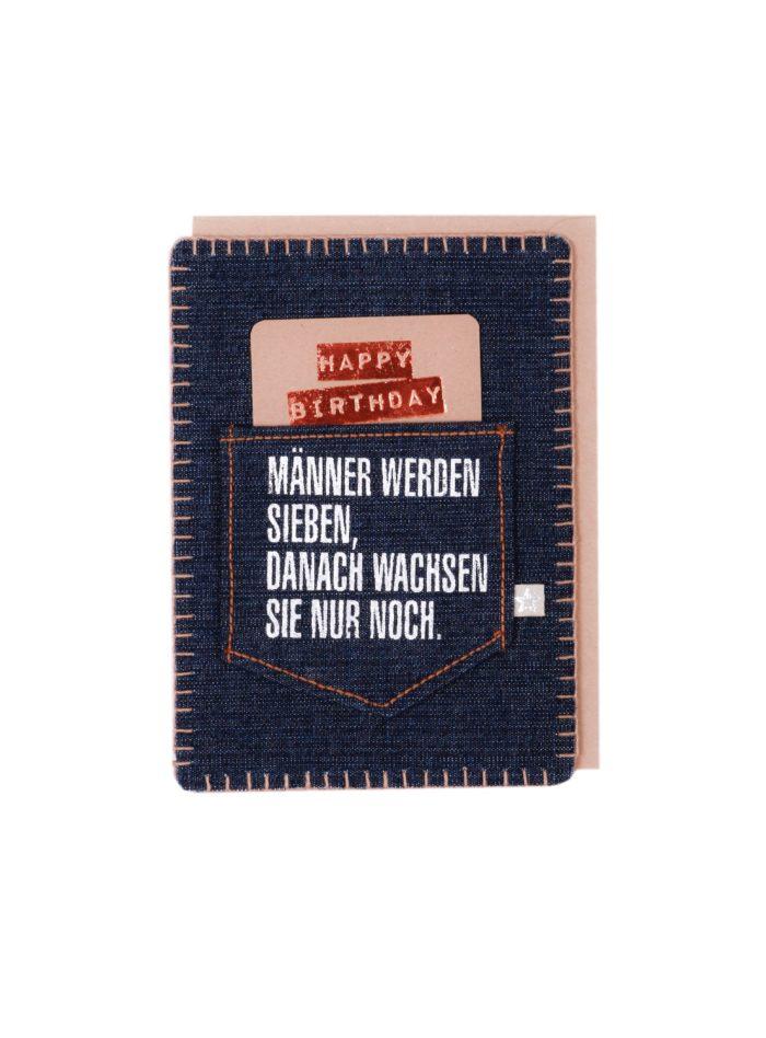 "Jeanskarte ""Happy Birthday/Männer"" 1"