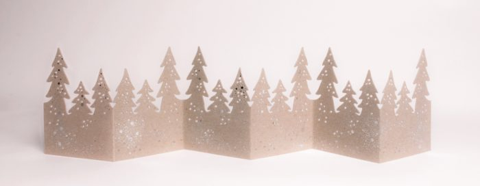 "Winter Tischgirlande ""Wald"" 1"
