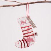 "Winter Glitzer Ornament ""HoHoHo"" 16"
