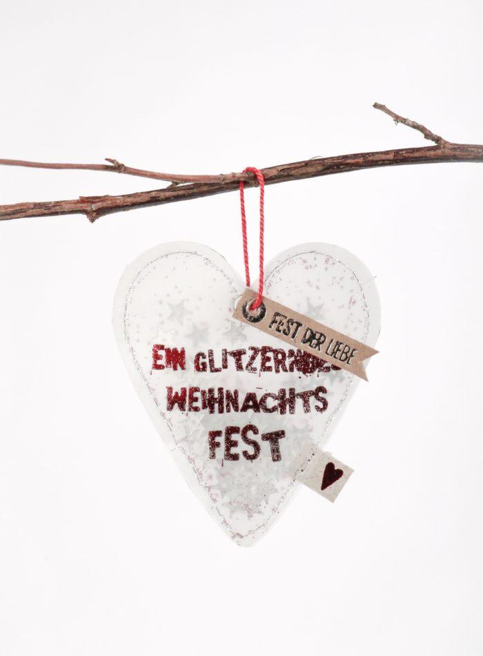 """Winter Glitzer Ornament """"Fest der Liebe"""" 1"""