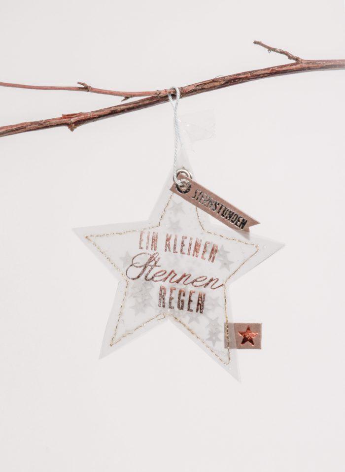 """Winter Glitzer Ornament """"Sternstunden"""" 1"""