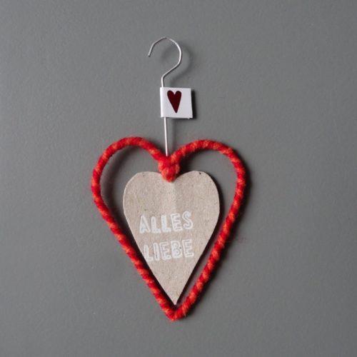"""Mini Wollherz """"Alles Liebe"""" 2"""