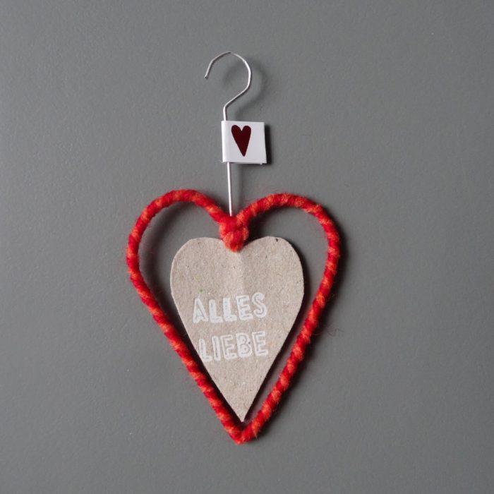 """Mini Wollherz """"Alles Liebe"""" 1"""