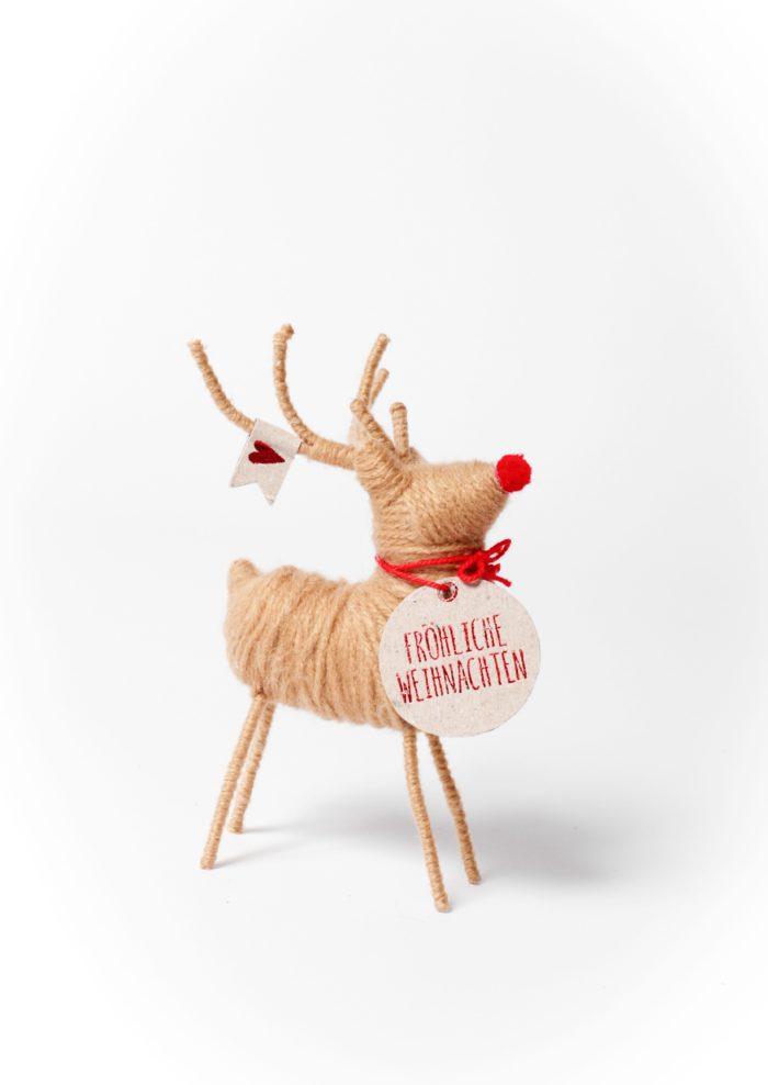 """Rentier """"Fröhliche Weihnachten"""" 1"""