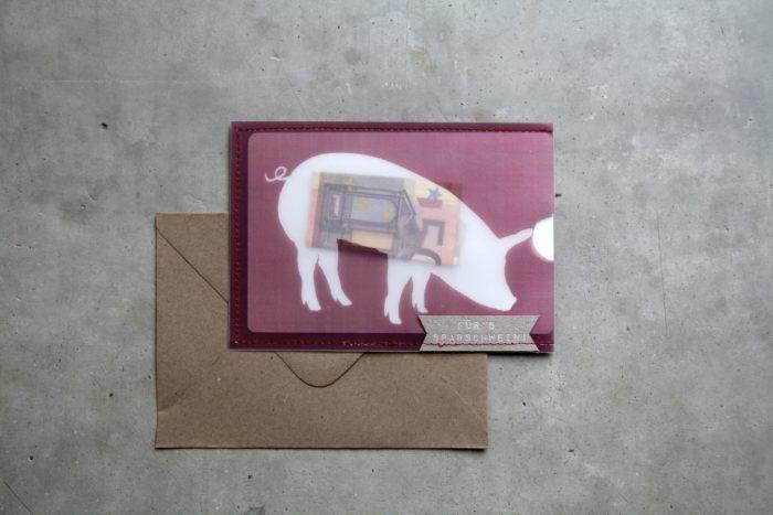 Scheinchen Schweinchen Karte 3
