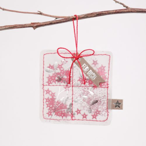 """Winter Glitzer Ornament """"Für Dich"""" 14"""