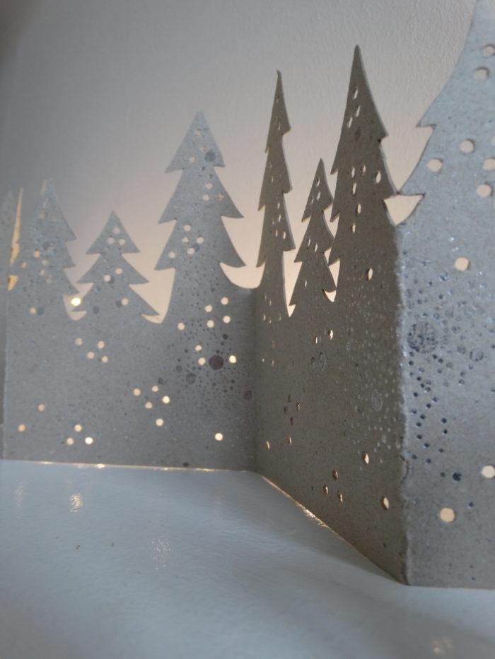 "Winter Tischgirlande ""Wald"" 3"