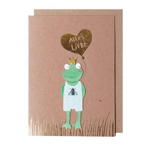 Glückstierkarte Frosch 1