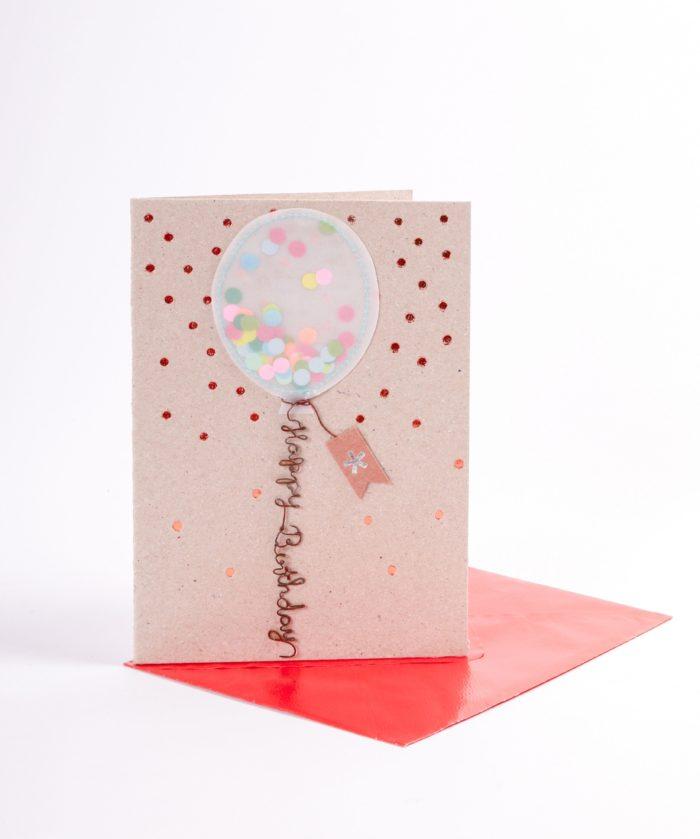 "Lufballonkarte ""Happy Birthday"" 2"