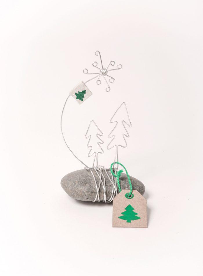 """Winter Mini Steingeschichte """"Bäume"""" 1"""
