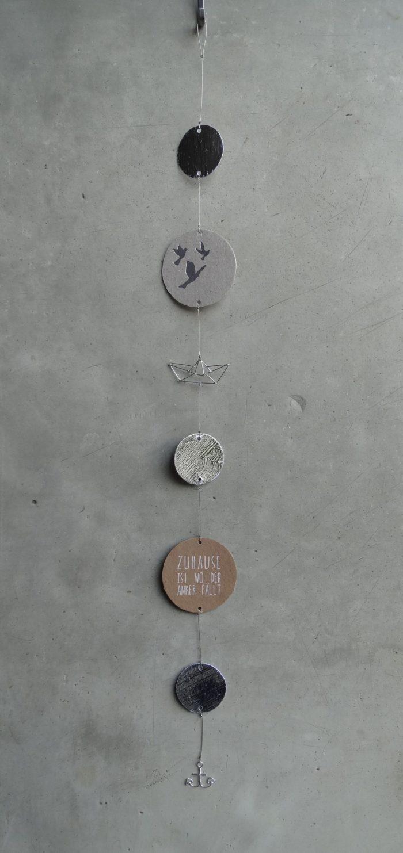 """Silberkette """"Zuhause ist, wo der Anker fällt"""" 1"""