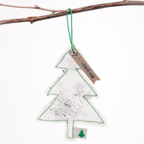 """Winter Glitzer Ornament """"Oh Tannenbaum"""" 15"""