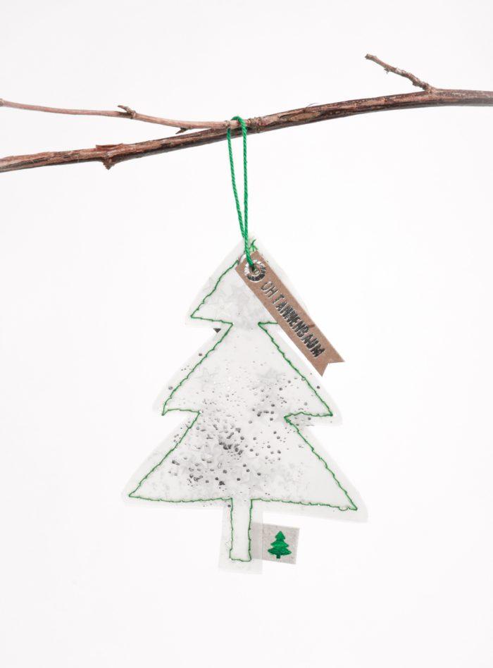 """Winter Glitzer Ornament """"Oh Tannenbaum"""" 1"""