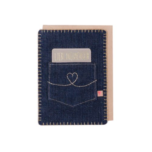 "Jeanskarte ""Lieblingsmensch"" 6"