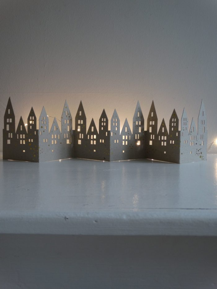 """Winter Tischgirlande """"Häuser"""" 2"""