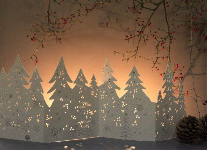 "Winter Silhouette ""Bäume"" 2"