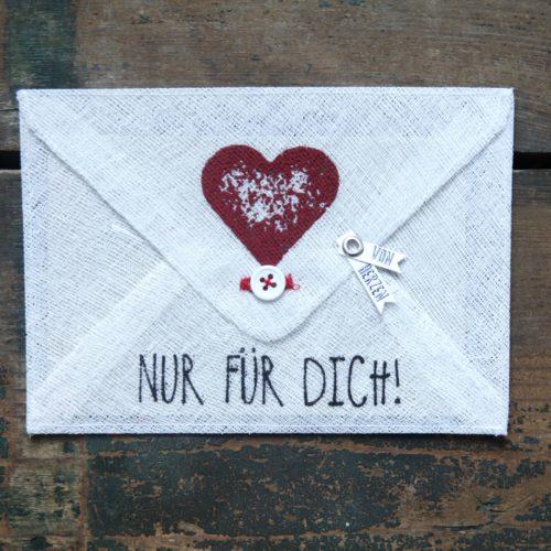 """Grußumschlag """"Nur für Dich !"""" 28"""