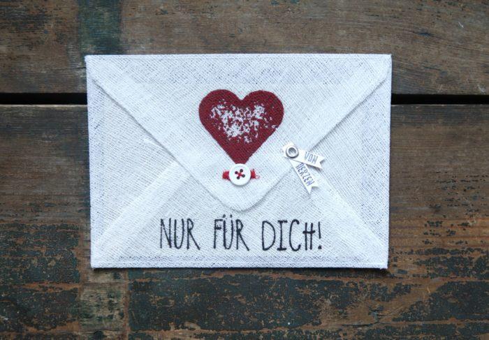 """Grußumschlag """"Nur für Dich !"""" 1"""