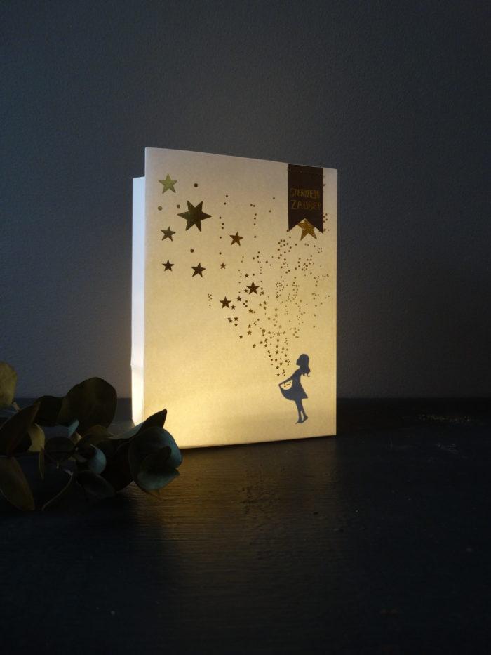 """Winter Schattenlicht Tüte """"Sternenzauber"""" 2"""