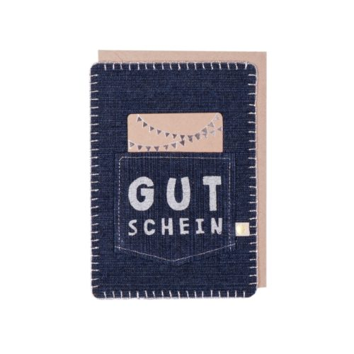 """Jeanskarte """"Gutschein"""" 7"""