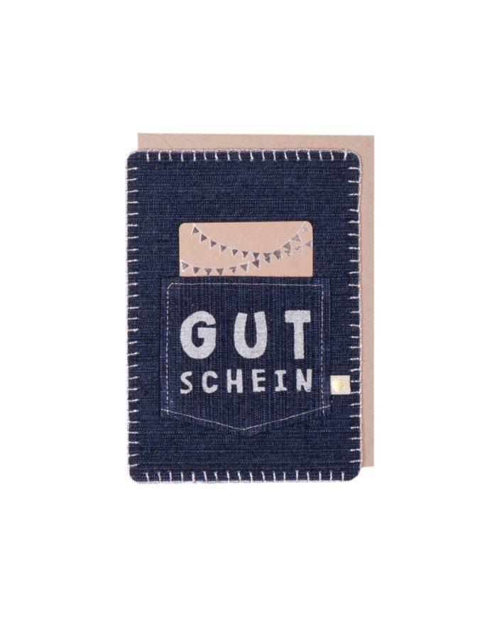 """Jeanskarte """"Gutschein"""" 1"""