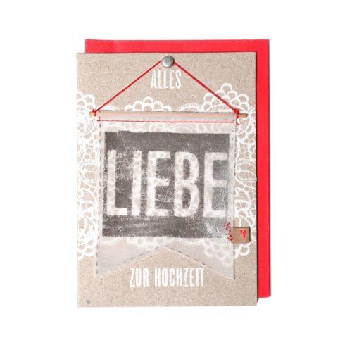 """Wimpelkarte """"LIEBE"""" 6"""