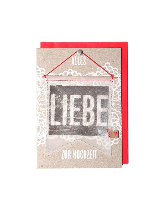 """Wimpelkarte """"LIEBE"""" 2"""