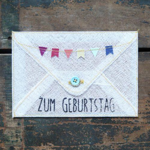 """Grußumschlag """"Zum Geburtstag"""" 4"""