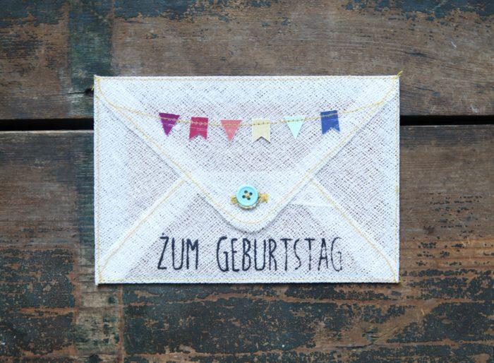 """Grußumschlag """"Zum Geburtstag"""" 1"""