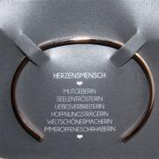 """Mantra Edelstahl Armreif Grösse M/L rosé vergoldet """"Herzensmensch"""" 2"""