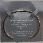 """Mantra Edelstahl Armreif Grösse S vergoldet """"Liebe ist alles - Alles ist Liebe"""" 2"""
