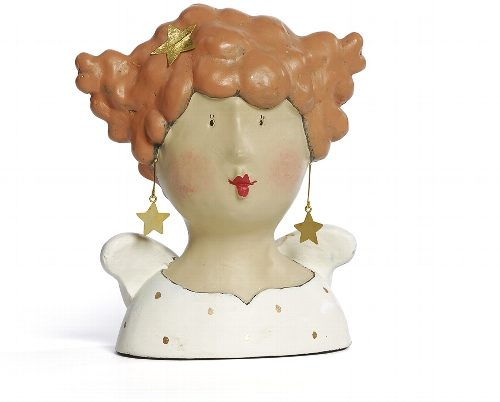 Ladykopf mit Stern Ohrringen 7