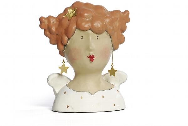 Ladykopf mit Stern Ohrringen 1