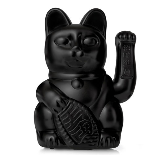 Lucky Cat GIANT Black 11