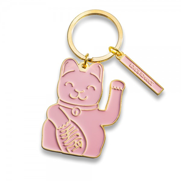 Lucky Cat Keyring Pink 1